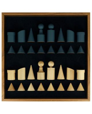 BAUHAUS STYLE wooden chess set MANOPOULOS