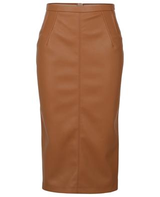 Faux leather pencil skirt N°21