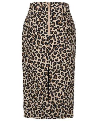 Jupe crayon en toile de coton imprimée léopard N°21