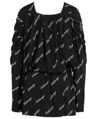 Mini robe cache-coeur en jersey Logo Allover BALENCIAGA