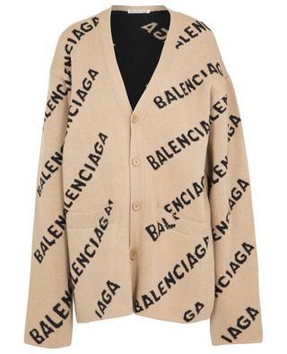 Cardigan jacquard oversize en laine Balenciaga All Over BALENCIAGA