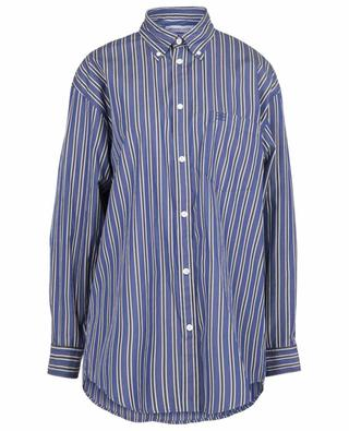 BB embroidered Large Fit striped oversize shirt BALENCIAGA