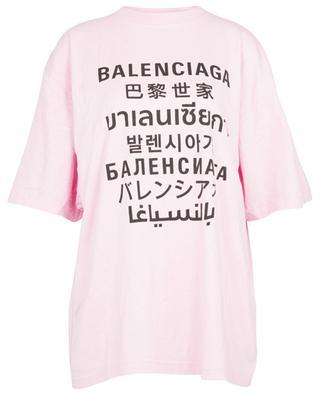 Languages XL oversize T-shirt in technical jersey BALENCIAGA