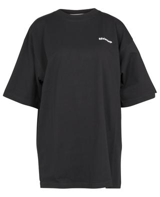 BBalenciaga logo embroidered Large Fit oversize jersey T-shirt BALENCIAGA