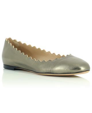 Lauren metallic nappa leather ballet flats CHLOE