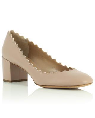 Lauren 55 block heel nappa leather pumps CHLOE