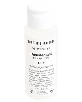 Gel désinfectant parfumé Oud - 60 ml MIZENSIR