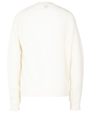 Cashmere and organic cotton openwork jumper FTC CASHMERE