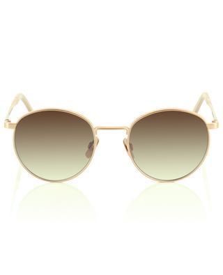 The Navigator rose gold matte metal round sunglasses VIU