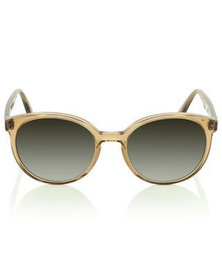The Diva clear beige acetate round sunglasses VIU