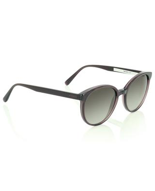 The Diva round sunglasses in clear violet acetate VIU