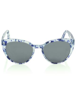 The Maiden cat-eye sunglasses in acetate with blue spots VIU