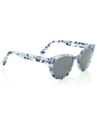 Katzenaugen-Sonnenbrille aus Acetat mit blauen Tupfern The Maiden VIU