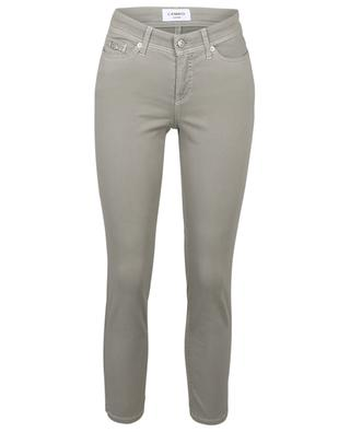 Piper Short cropped cotton stretch slim fit trousers CAMBIO