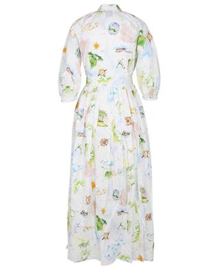 Paradise Found Light printed long shirt dress HAYLEY MENZIES