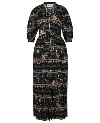 Robe chemise longue imprimée Midnight Safari HAYLEY MENZIES