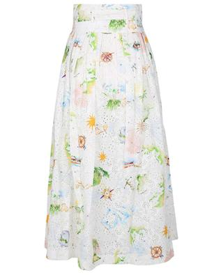 Paradise Found embroidered printed maxi skirt HAYLEY MENZIES