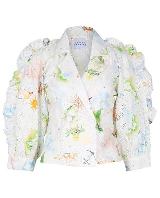 Paradise Found Tux printed embroidered shirt HAYLEY MENZIES