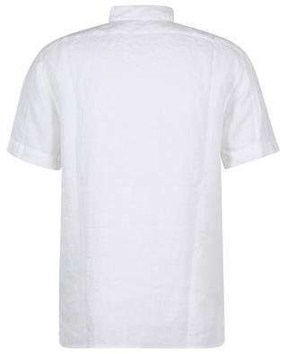 12701 Fissato Treatment short-sleeved linen shirt STONE ISLAND