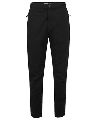 Compass patch cotton poplin tapered trousers STONE ISLAND