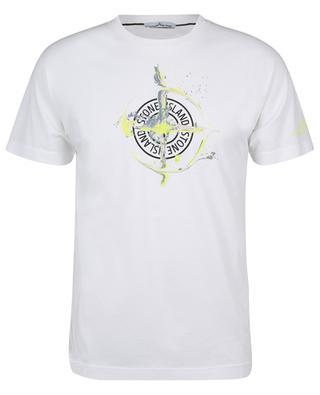 T-Shirt aus Jersey mit Logoprint Paint Stroke STONE ISLAND
