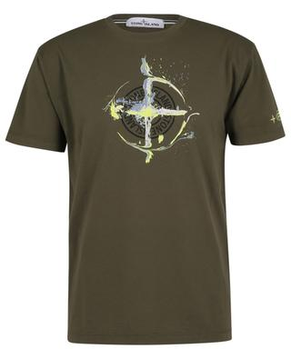T-shirt en jersey avec logo imprimé Paint Stroke STONE ISLAND