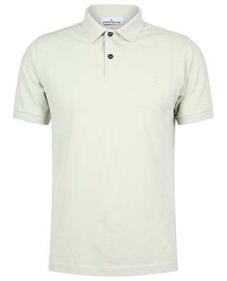 Wind rose embroidered slim fit cotton piqué polo shirt STONE ISLAND