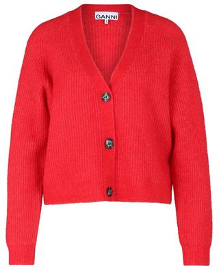 Cardigan boxy en laine alpaga mélangée GANNI