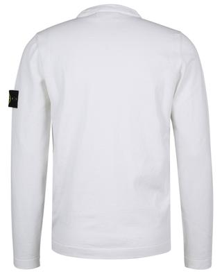 Compass logo adorned relaxed cotton jumper STONE ISLAND