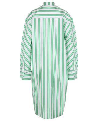 Gestreiftes Oversize-Hemdkleid aus Bio-Baumwolle GANNI