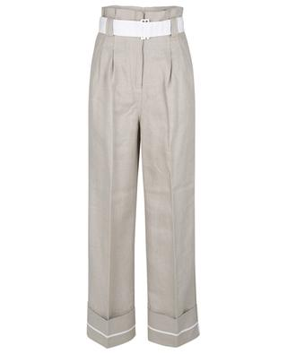 High-rise wide-leg paperbag trousers GANNI