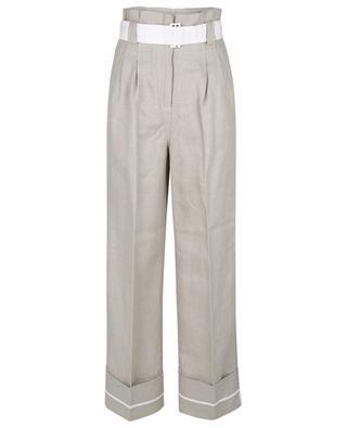 Paperbag-Leinenhose mit weitem Bein und hohem Bund GANNI