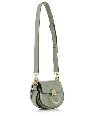 Tess Small croc embossed leather shoulder bag CHLOE