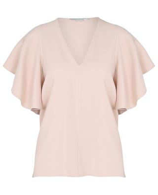 Mallory short-sleeved top in sustainable cady STELLA MCCARTNEY