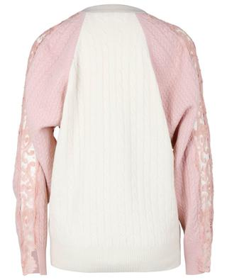 Lace embellished oversize cable knit cardigan STELLA MCCARTNEY