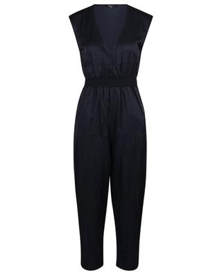 Sleeveless cotton and silk wrap jumpsuit PRINCESS