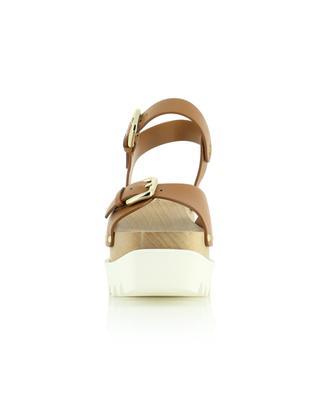 Elyse faux leather wedge sandals STELLA MCCARTNEY
