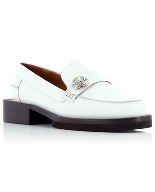 White leather moccasins with chunky sole GANNI