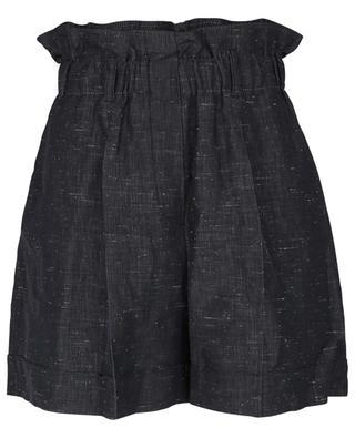 Shorts mit hohem Bund aus Baumwolle, Leinen und Seide Fiume MOMONI