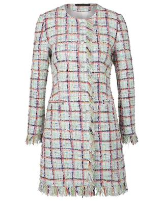 Doris fitted tweed coat with fluorescent details TAGLIATORE