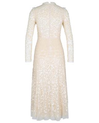 Aurelia Long-Sleeve Ballerina long dress in tulle with sequins NEEDLE &THREAD