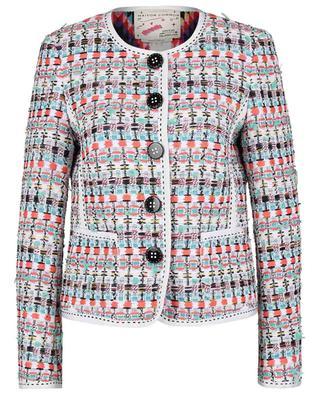 Veste en tweed coloré à rubans gros grain MAISON COMMON