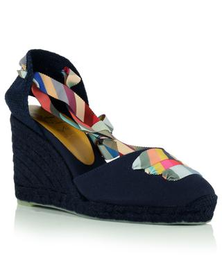 Coralia wedge fabric espadrilles with striped straps CASTANER