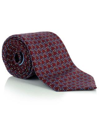 Cravate en soie imprimée chaîne ERMENEGILDO ZEGNA