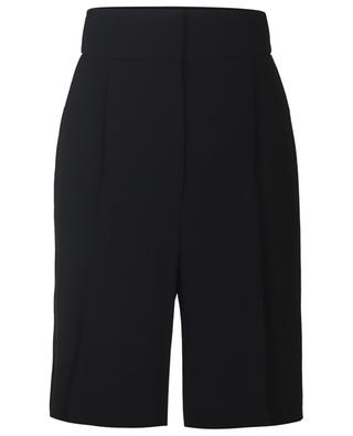 High-rise wool blend shorts with waistband tucks FABIANA FILIPPI