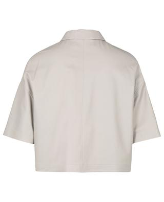Veste boxy en cuir à manches courtes FABIANA FILIPPI