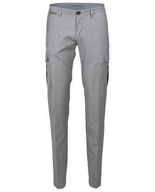Pantalon cargo slim gris chiné ELEVENTY