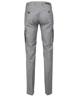 Heather grey slim fit cargo trousers ELEVENTY