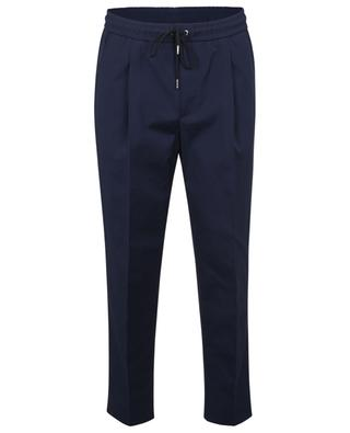 Jogger fit cotton waistband tuck trousers MONCLER