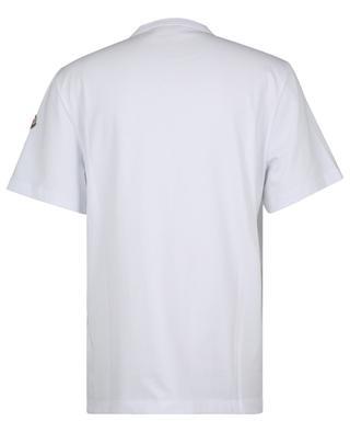 T-Shirt mit lichtreflektierendem dreifarbigem Logo MONCLER